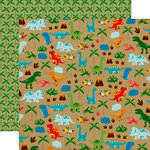 Echo Park - Dino Friends Collection - 12 x 12 Double Sided Paper - Dinosaur Safari