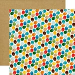 Echo Park - Dino Friends Collection - 12 x 12 Double Sided Paper - Dinosaur Eggs