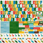 Echo Park - Dino Friends Collection - 12 x 12 Cardstock Stickers - Alphabet