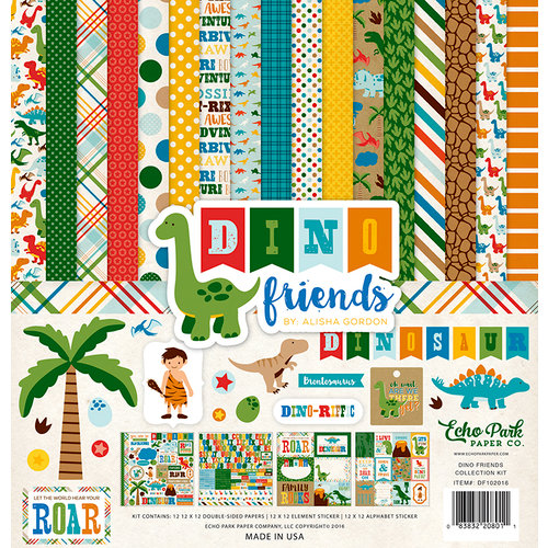 Echo Park - Dino Friends Collection - 12 x 12 Collection Kit