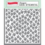 Echo Park - Dino Friends Collection - 6 x 6 Stencil - Footprint