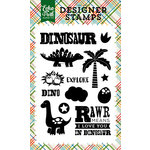 Echo Park - Dino Friends Collection - Clear Acrylic Stamps - Explore Dinosaur