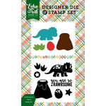 Echo Park - Dino Friends Collection - Designer Die and Clear Acrylic Stamp Set - So Rawrsome