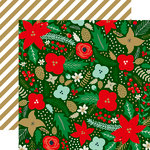 Echo Park - Deck the Halls Collection - Christmas - 12 x 12 Double Sided Paper with Foil Accents - Holiday Bouquet