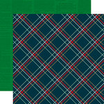 Echo Park - Deck the Halls Collection - Christmas - 12 x 12 Double Sided Paper with Foil Accents - Festive Plaid