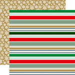 Echo Park - Deck the Halls Collection - Christmas - 12 x 12 Double Sided Paper - Merry Stripes