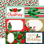 Echo Park - Deck the Halls Collection - Christmas - 12 x 12 Double Sided Paper - 4 x 6 Journaling Card