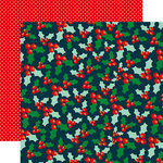 Echo Park - Deck the Halls Collection - Christmas - 12 x 12 Double Sided Paper with Foil Accents - Holly Jubilee