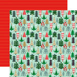 Echo Park - Deck the Halls Collection - Christmas - 12 x 12 Double Sided Paper - Holiday Trees