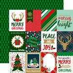 Echo Park - Deck the Halls Collection - Christmas - 12 x 12 Double Sided Paper with Foil Accents - 3 x 4 Journaling Card