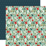 Echo Park - Deck the Halls Collection - Christmas - 12 x 12 Double Sided Paper - Merry Mint Floral