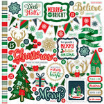 Echo Park - Deck the Halls Collection - Christmas - 12 x 12 Cardstock Stickers - Elements