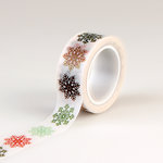Echo Park - Deck the Halls Collection - Christmas - Decorative Tape - Multi Snowflakes