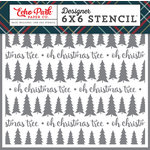 Echo Park - Deck the Halls Collection - Christmas - 6 x 6 Stencil - Oh Christmas Tree