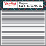 Echo Park - Deck the Halls Collection - Christmas - 6 x 6 Stencil - Festive Stripe