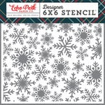 Echo Park - Deck the Halls Collection - Christmas - 6 x 6 Stencil - Frosted Snowflake