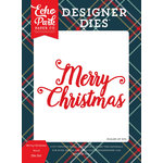 Echo Park - Deck the Halls Collection - Christmas - Designer Dies - Merry Christmas Word