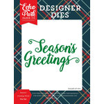 Echo Park - Deck the Halls Collection - Christmas - Designer Dies - Seasons Greeting Word