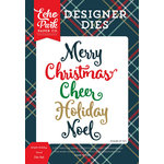 Echo Park - Deck the Halls Collection - Christmas - Designer Dies - Bright Holiday Word