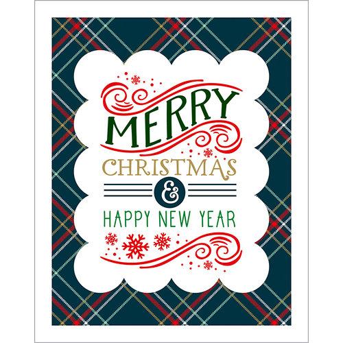 Echo Park - Deck the Halls Collection - Christmas - Art Print - 8 x 10 - Plaid Merry Christmas