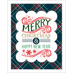 Echo Park - Deck the Halls Collection - Christmas - Art Print - 8 x 10 - Plaid Merry Christmas