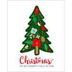 Echo Park - Deck the Halls Collection - Christmas - Art Print - 8 x 10 - Christmas Tree