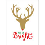 Echo Park - Deck the Halls Collection - Christmas - Art Print - 5 x 7 - Rudolph Bright