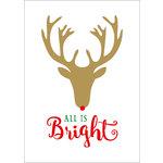 Echo Park - Deck the Halls Collection - Christmas - Art Print - 5 x 7 - Rudolph Bright
