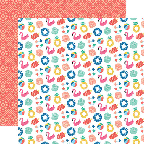 Echo Park - Dive Into Summer Collection - 12 x 12 Double Sided Paper - Fabulous Floaties