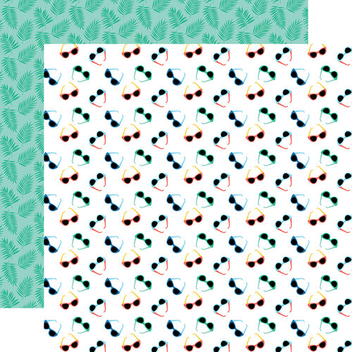 Echo Park - Dive Into Summer Collection - 12 x 12 Double Sided Paper - Stylish Sunnies