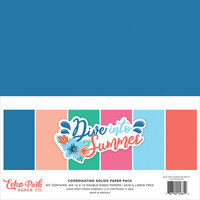 Echo Park - Dive Into Summer Collection - 12 x 12 Solids Paper Pack