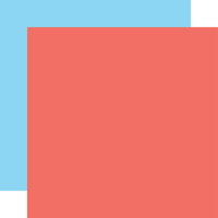 Echo Park - Dive Into Summer Collection - 12 x 12 Double Sided Paper - Coral