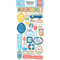 Echo Park - Dive Into Summer Collection - Chipboard Stickers - Phrases
