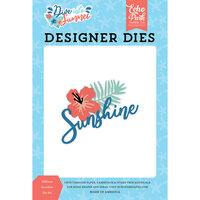 Echo Park - Dive Into Summer Collection - Decorative Dies - Hibiscus Sunshine