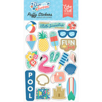 Echo Park - Dive Into Summer Collection - Puffy Stickers