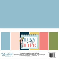 Echo Park - Day In The Life Collection - 12 x 12 Paper Pack - Solids