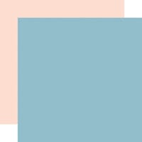 Echo Park - Day In The Life Collection - 12 x 12 Double Sided Paper - Light Blue