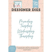 Echo Park - Day In The Life Collection - Designer Dies - Monday to Thursday Word