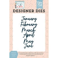Echo Park - Day In The Life Collection - Designer Dies - January to June Word