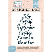 Echo Park - Day In The Life Collection - Designer Dies - July to December Word