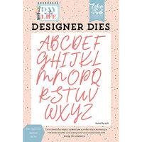 Echo Park - Day In The Life Collection - Designer Dies - Ellie Uppercase Alphabet