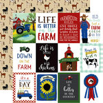Echo Park - Down on the Farm Collection - 12 x 12 Double Sided Paper - 3 x 4 Journaling Cards