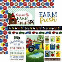 Echo Park - Down on the Farm Collection - 12 x 12 Double Sided Paper - Journaling Cards