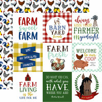 Echo Park - Down on the Farm Collection - 12 x 12 Double Sided Paper - 4 x 4 Journaling Cards