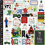 Echo Park - Down on the Farm Collection - 12 x 12 Cardstock Stickers - Elements