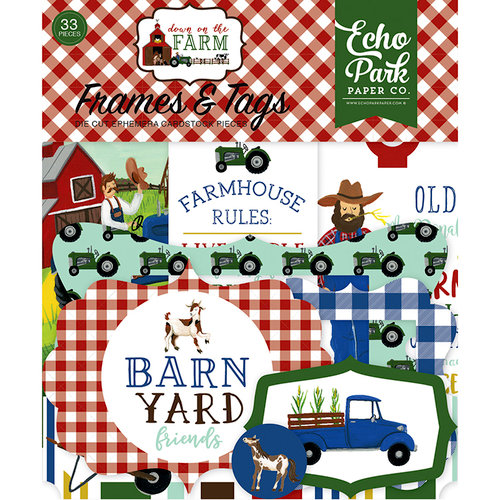 Echo Park - Down on the Farm Collection - Ephemera - Frames and Tags