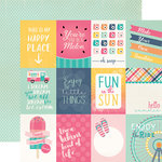 Echo Park - Summer Dreams Collection - 12 x 12 Double Sided Paper - 3 x 4 Journaling Cards