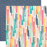 Echo Park - Summer Dreams Collection - 12 x 12 Double Sided Paper - Painted Strokes