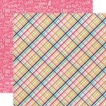 Echo Park - Summer Dreams Collection - 12 x 12 Double Sided Paper - Summer Lovin Plaid