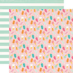 Echo Park - Summer Dreams Collection - 12 x 12 Double Sided Paper - Sweet As Summer